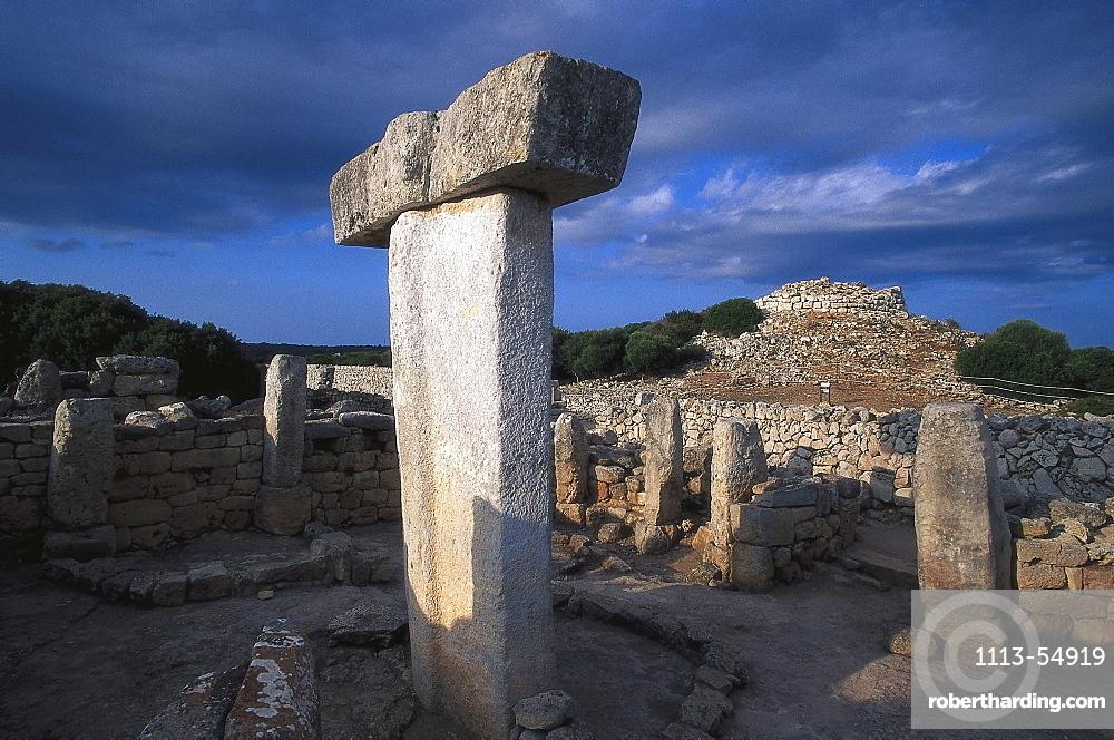 Prehistoric structure, Torralba d' en Salort, archaelogical site, Minorca, Spain