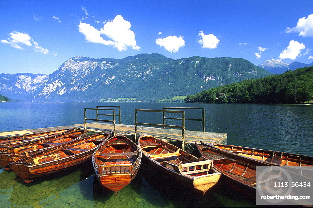 Boots at the jetty, Lake Bohinj, Slovenia