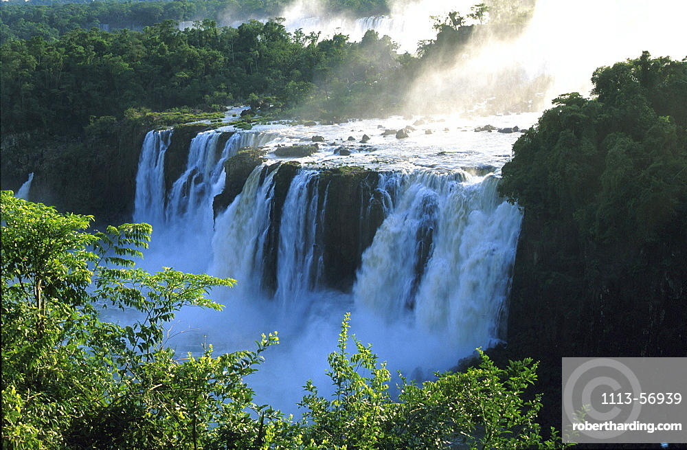 Garganta del diabolo, view at Iguazu falls, Parana, Brazil, South America, America