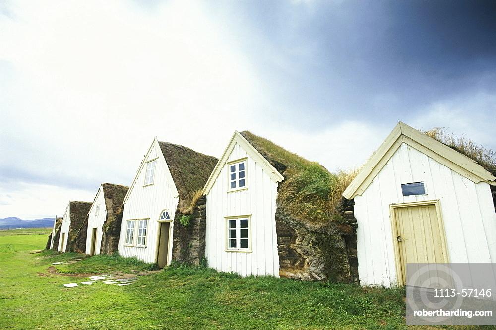 Icelandic turf houses, Museum, Glaumbaer, North Island