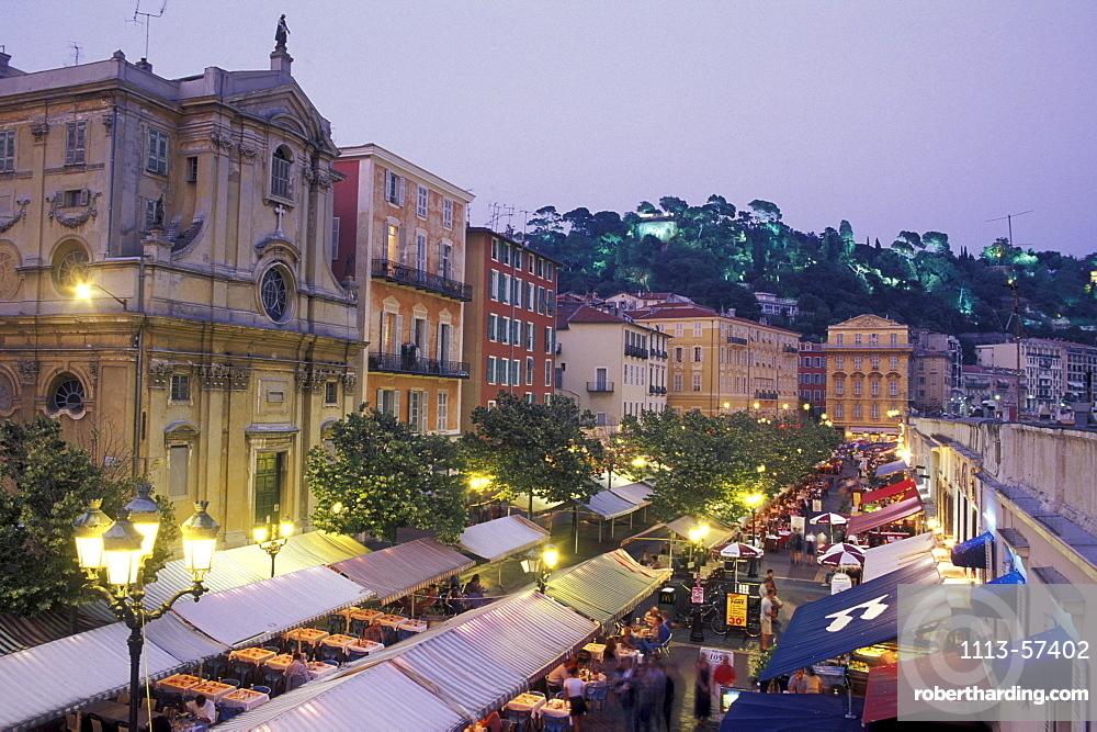 Cours Saleya, Nice, Cote d'Azur, Provence, France