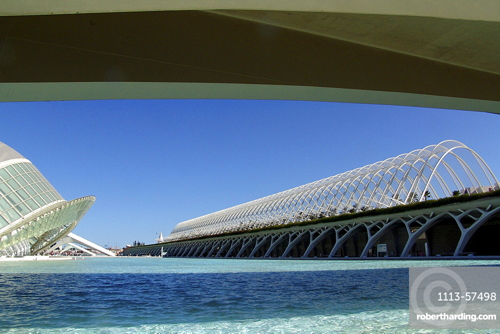 Modern buildings in the City of Arts and Sciences, Valencia, Spain, Europe