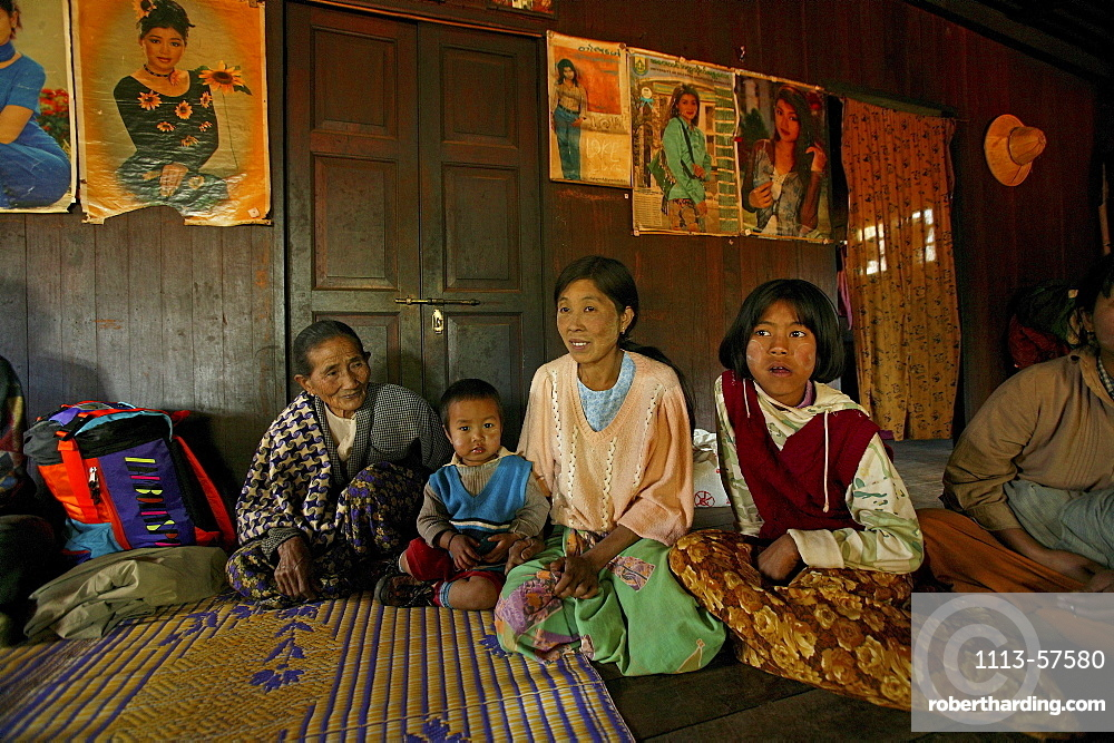 Four generations in one house, Burma, Myanmar