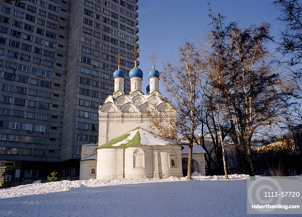Church on New Arbat, Moscow, Russia