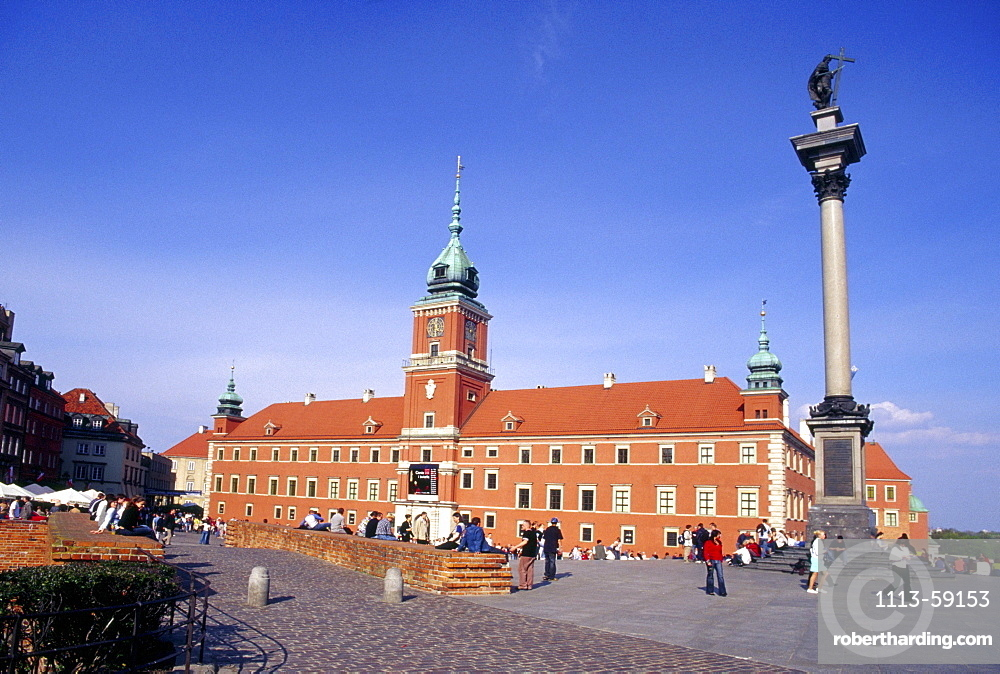King Zygmunt's column in front of the Royal Castle, Warsaw, Poland