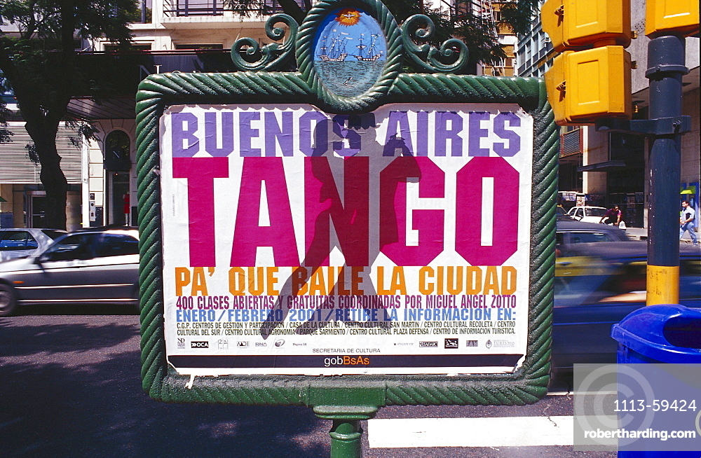 Sign at a roadside, Buenos Aires, Argentina, South America, America