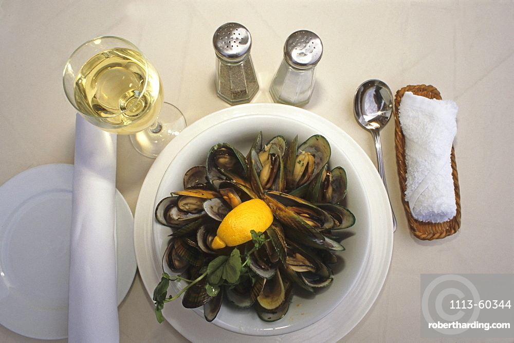 Green lipped mussels, speciality, New Zealand