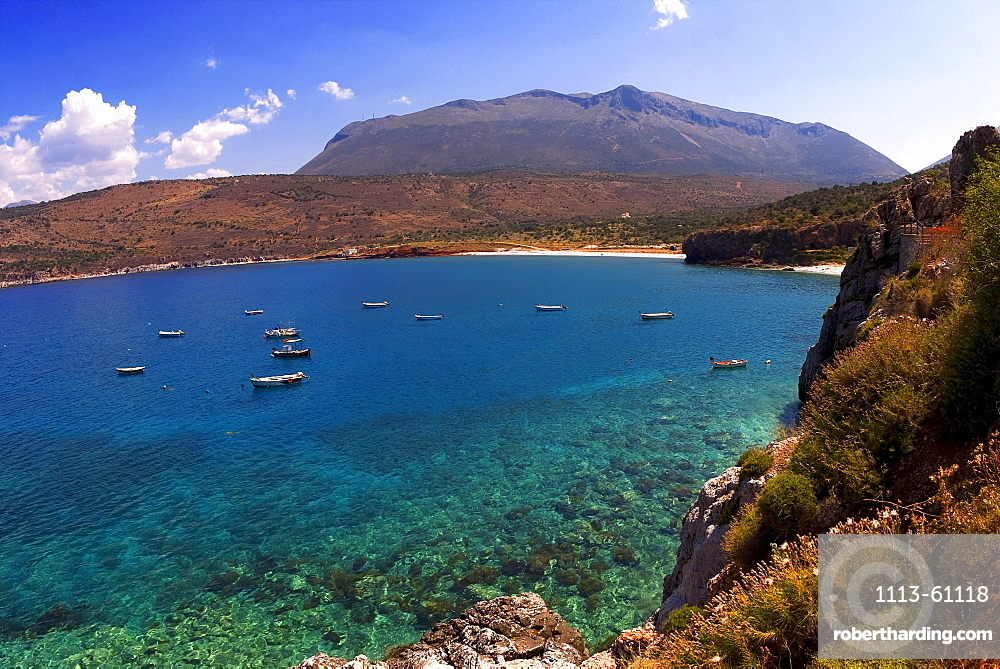 Bay at the caves of Dirou, Peloponnese, Greece