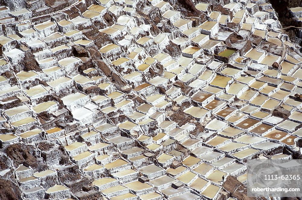 The salt pans at Maras, Peru