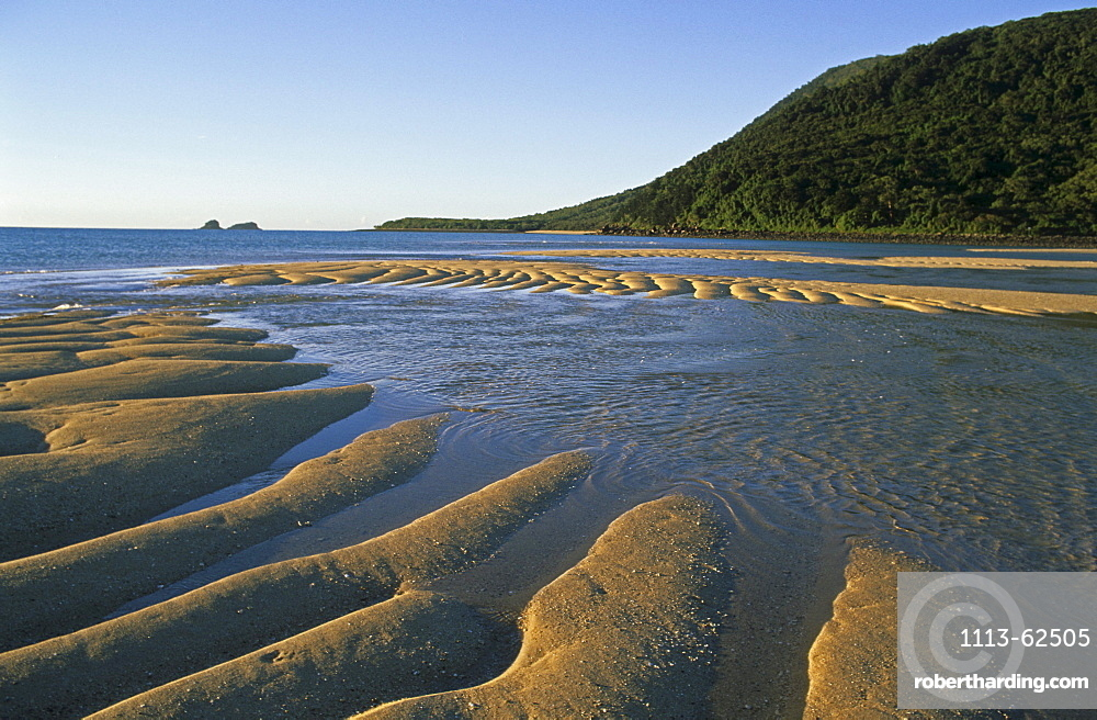 Sand ripples, Brampton Island, Holiday Island, Great Barrier Reef, Queensland, Australia