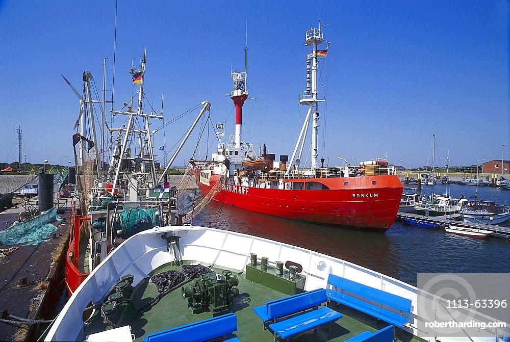 Lightship Borkum Riff, Borkum, Frisian Islands, Lower Saxony, Germany