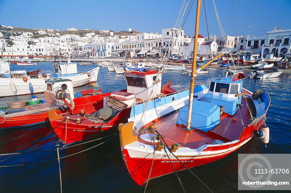 Harbour, Mykonos City, Mykonos, Cyclades, Greece