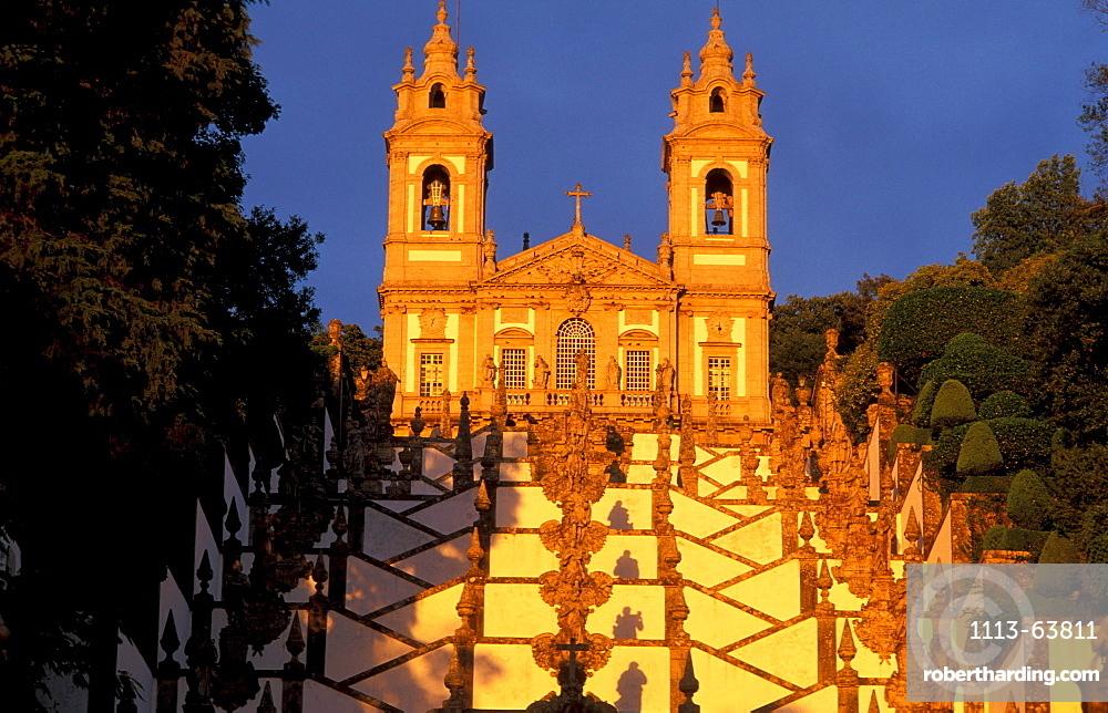 Long staircase, Bom Jesus do Monte piligrimage church, Braga, Portugal