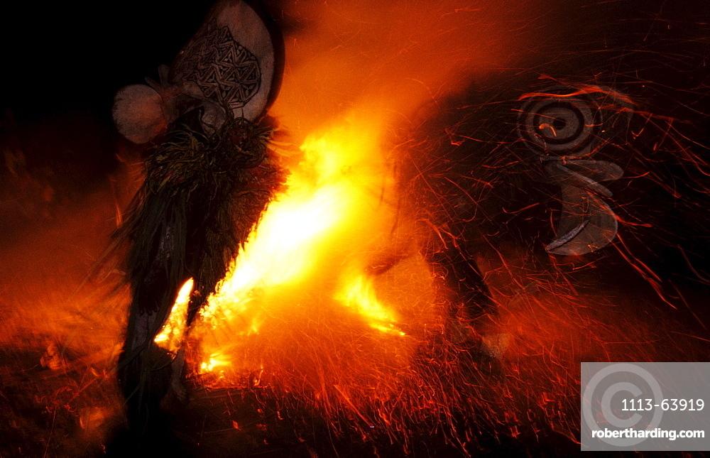 Baining Fire Dance, Rabaul, East New Britain, Papua New Guinea, Melanesia