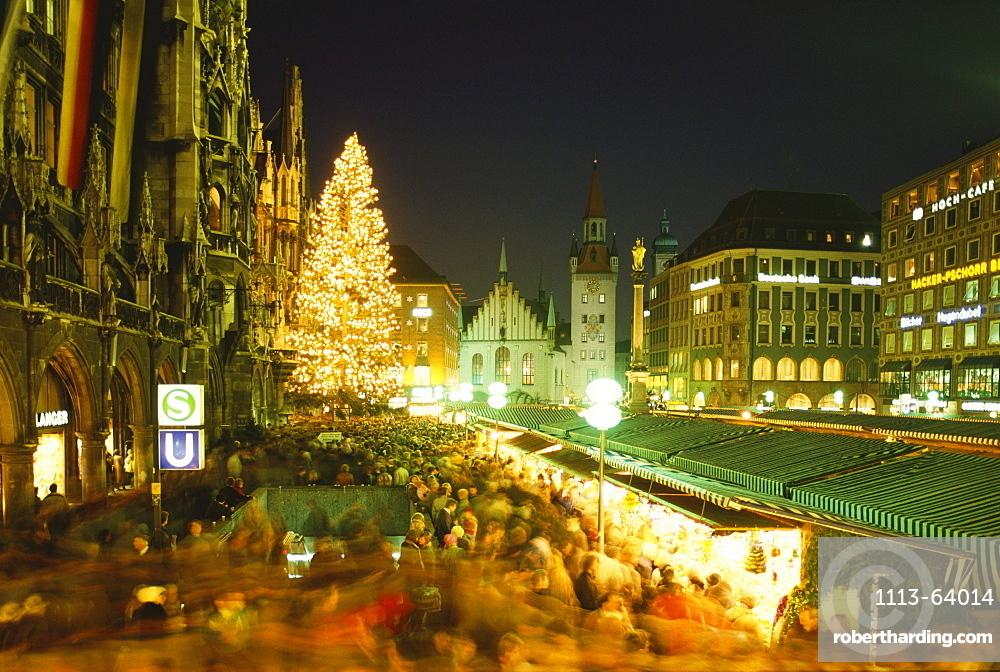 Christmas Market, Marienplatz, Muenchen Deutschland
