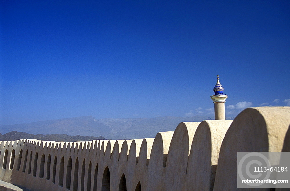 Fort with mosque, Nizwa, Oman