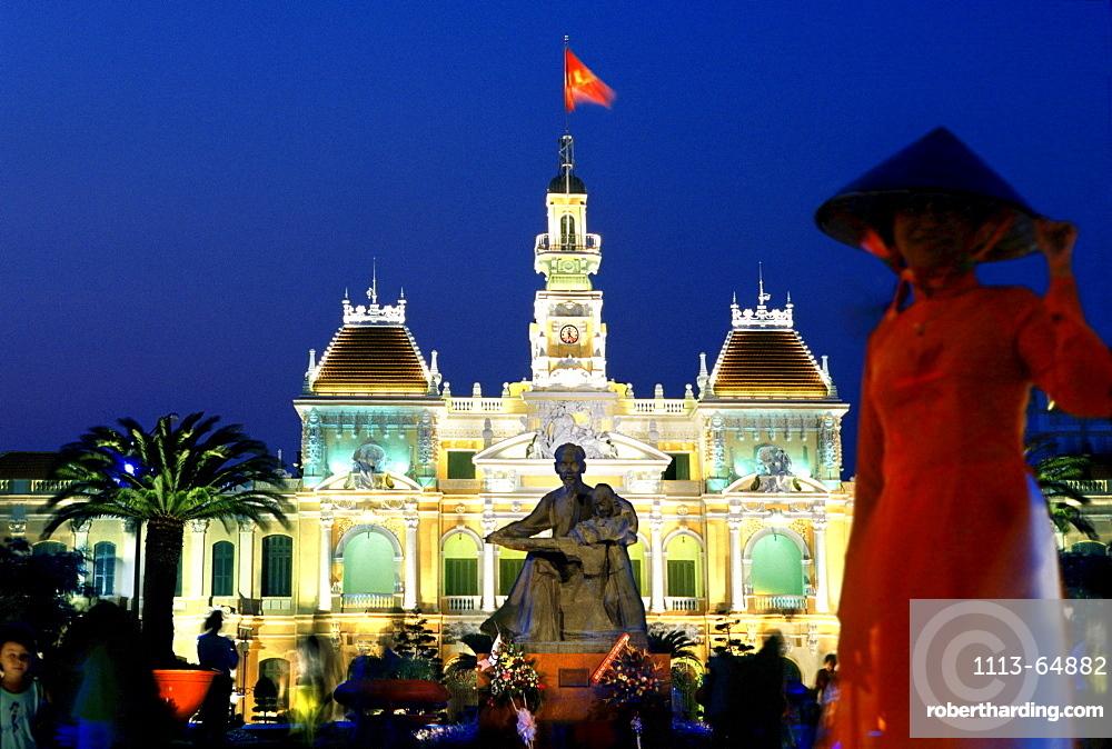 City Hall in Saigon, Ho Chi Minh City, Vietnam, Indochina, Asia