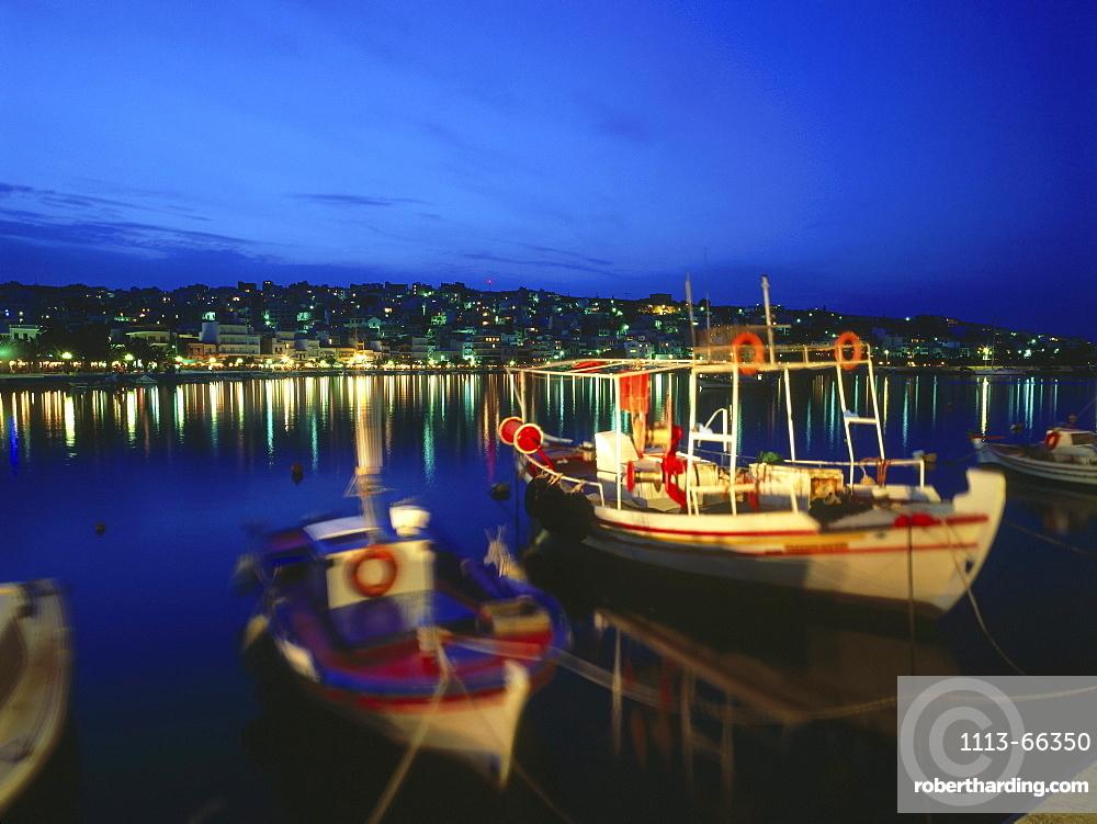 Fishing boats, harbour, Sitia, Crete, Greece
