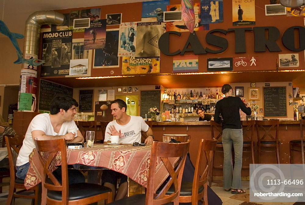 Two men in a tavern, Two men sitting in a tavern at Raday Street, Pest, Budapest, Hungary