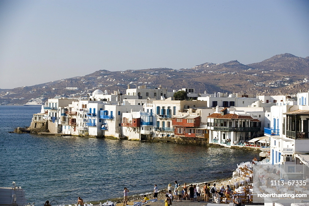 Restaurants, Bars, Little Venice, Mykonos, Greece
