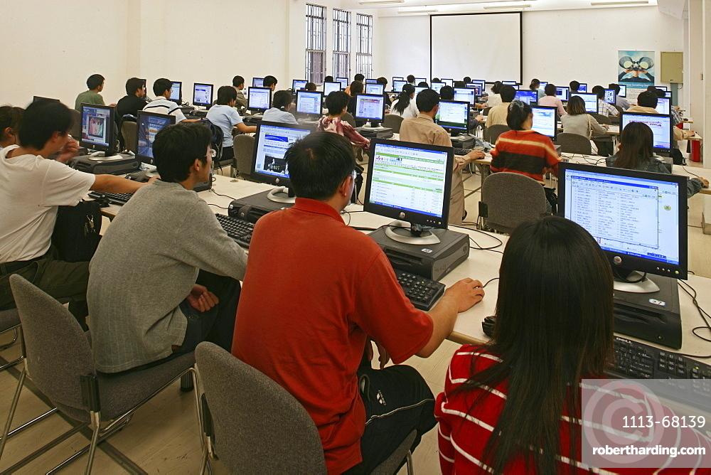 Tongji University, TFT-Screen, student, library