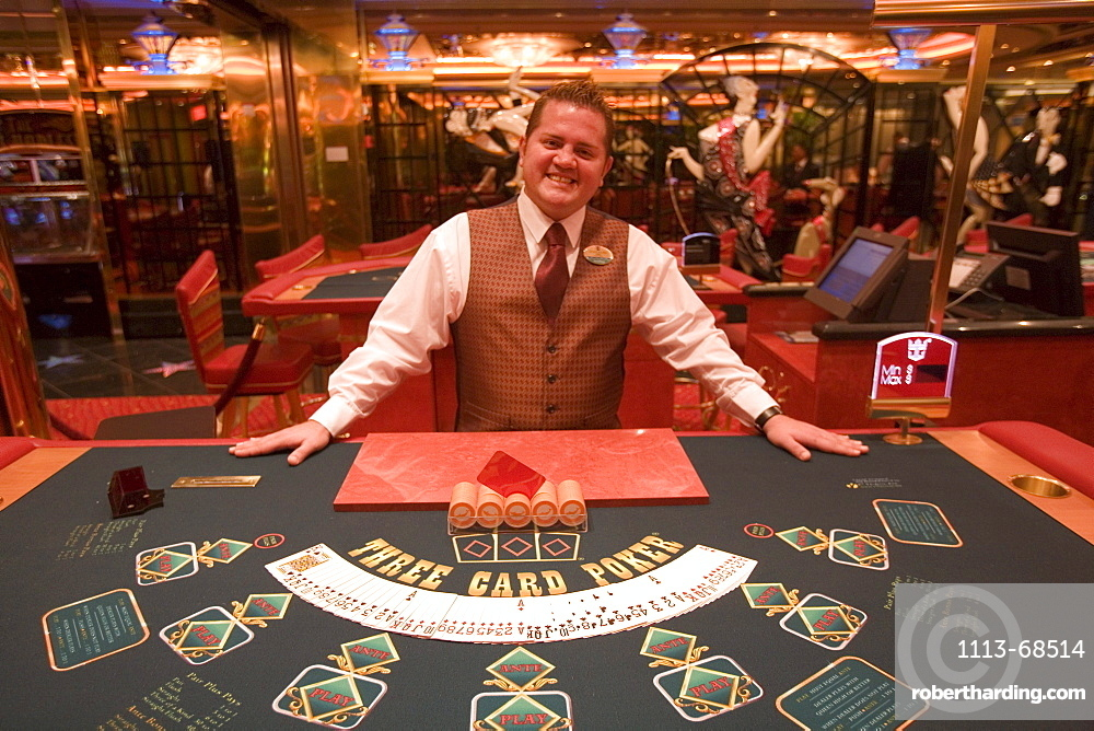 Happy Pokerface at Casino Royale on Deck 4, Freedom of the Seas Cruise Ship, Royal Caribbean International Cruise Line
