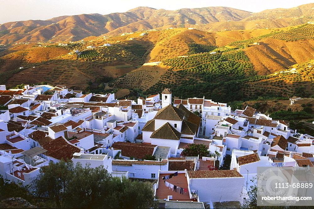 Old town of Frigiliana, White Village, Province Malaga, Andalusia, Spain