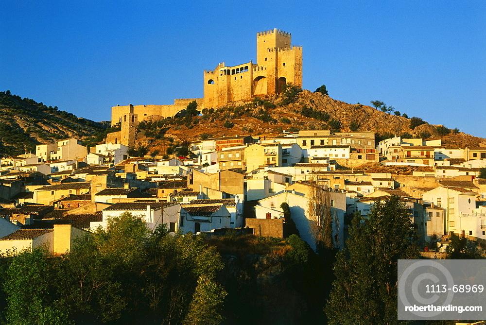 Velez Blanco with castle, Castillo, white village, Province Almeria, Andalusia, Spain