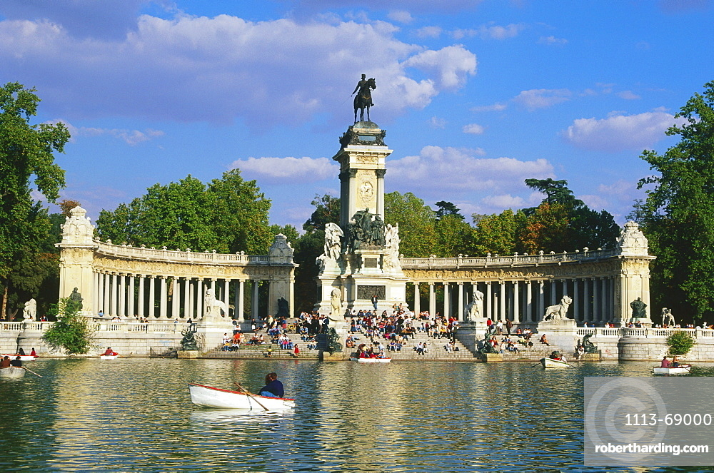 Monument for Alfonso XII., Retiro Park, Madrid, Spain