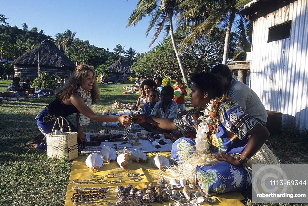 Navotua Village Handicrafts, Blue Lagoon Cruise, Nacula Island, Yasawa Islands, Fiji