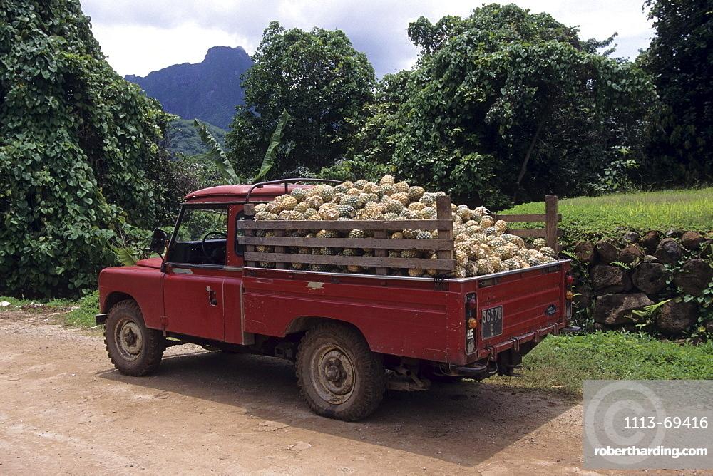 Pineapple Truck, Paopao Valley, Moorea, French Polynesia
