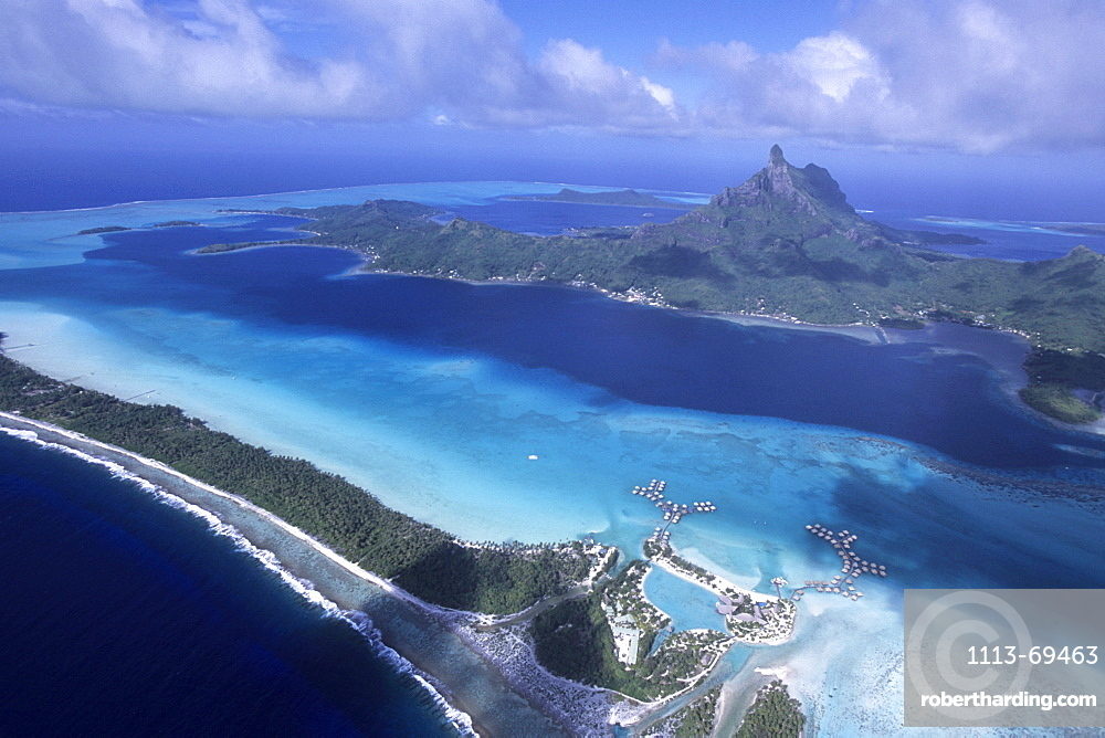Aerial Photo of Bora Bora Lagoon, Bora Bora, French Polynesia
