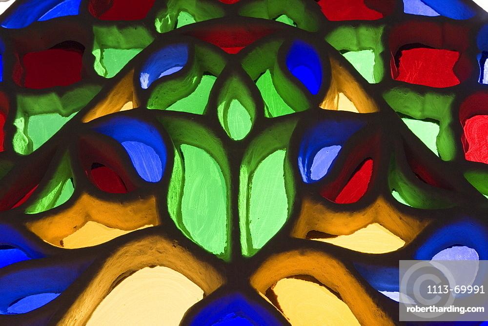 Stained-Glass Window in Rock Palace, Dar al-Hajar, Wadi Dhar, Yemen