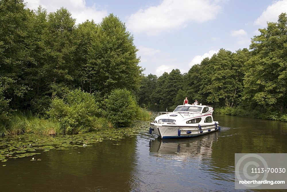 Connoisseur Caprice Houseboat on River Dahme, Near Zernsdorf, Brandenburg, Germany