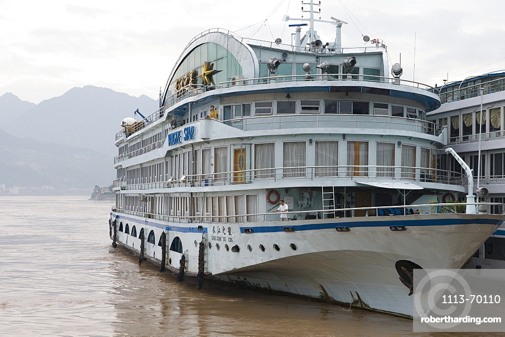 Yangtze Star River Cruise Ship, Sandouping, Yichang, Xiling Gorge, Yangtze River, China