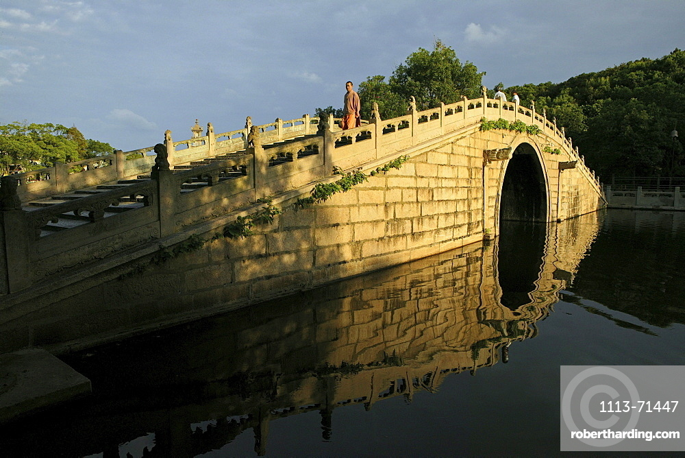 Yongshou bridge, Bridge of eternal life, Buddhist Island of Putuo Shan near Shanghai, Zhejiang Province, East China Sea, China