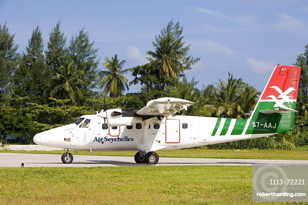Air Seychelles DHC-6 Twin Otter Airplane, Praslin Airport, Praslin Island, Seychelles