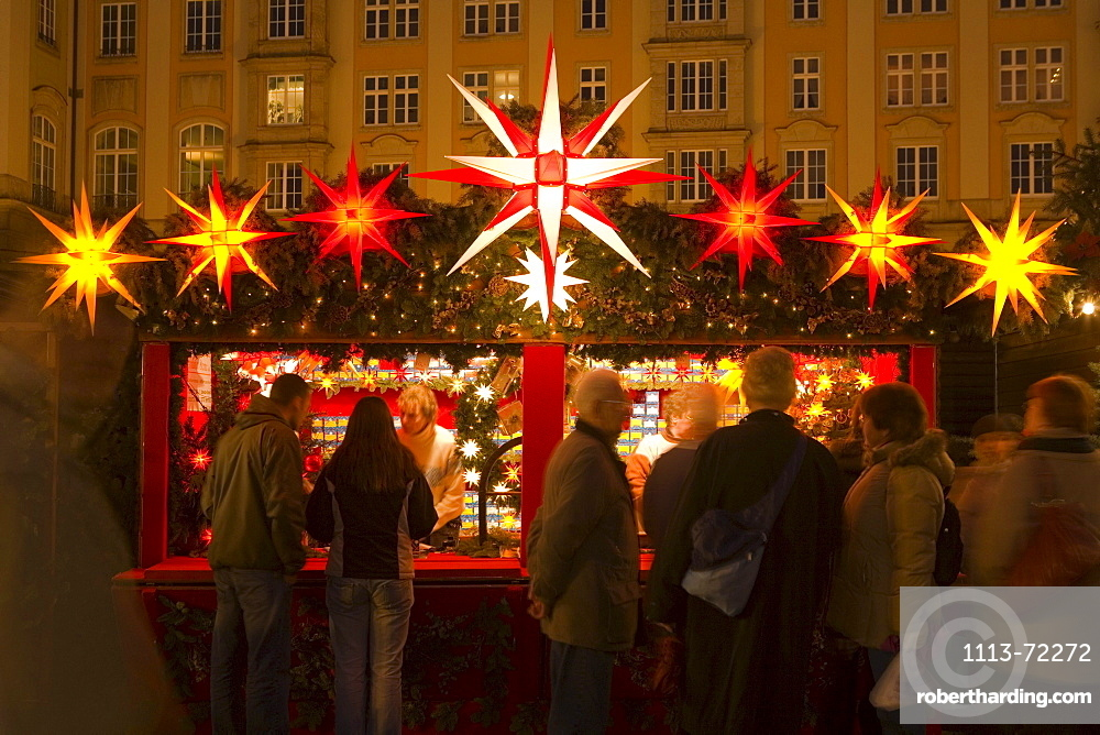 Christmas market, Dresden, Saxony, Germany