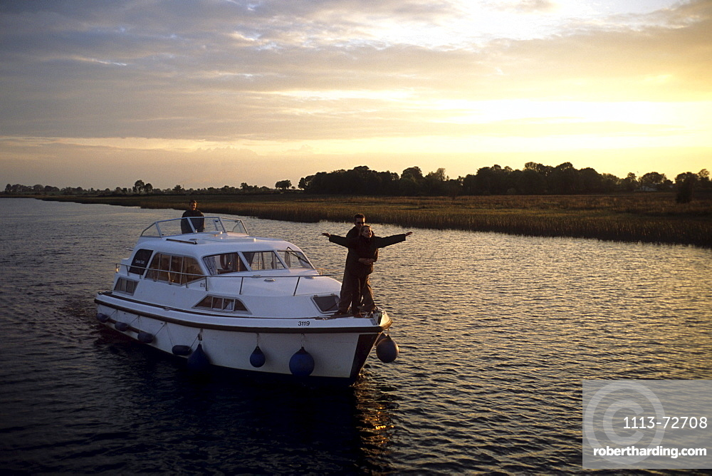 Carrick Craft Kilkenny, Cruising on River Shannon, Near Tarmonbarry, County Roscommon, Ireland