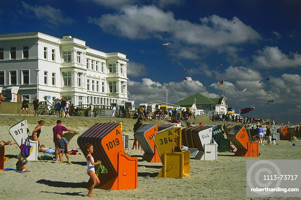 Beach life, Nordeney, Eastern Frisia, Germany
