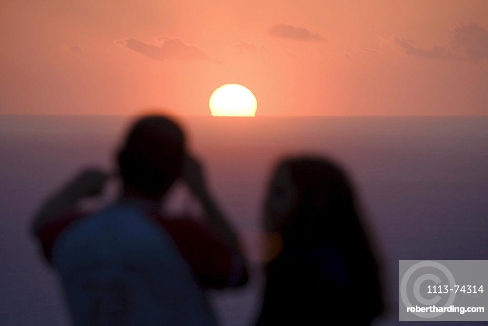 Sunset near Son Marroig, north coast, Majorca, Spain