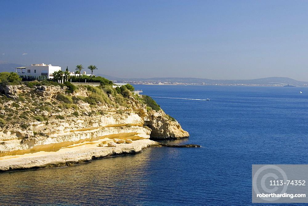 Villa and coastal landscape near Palma, Majorca, Spain