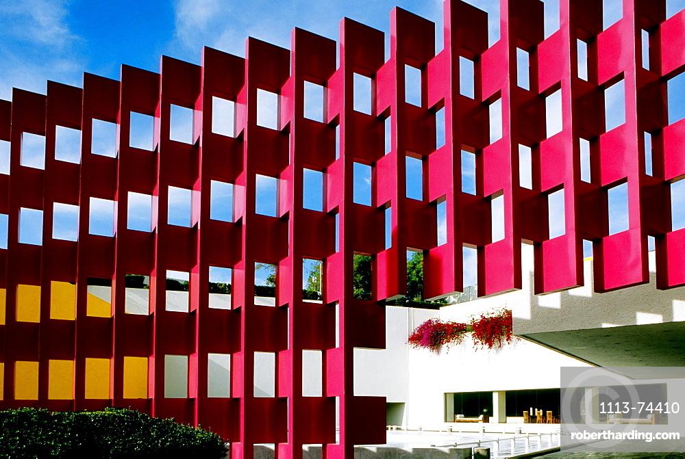 View of the Facade, Hotel Camino Real, Mexico City, Mexiko