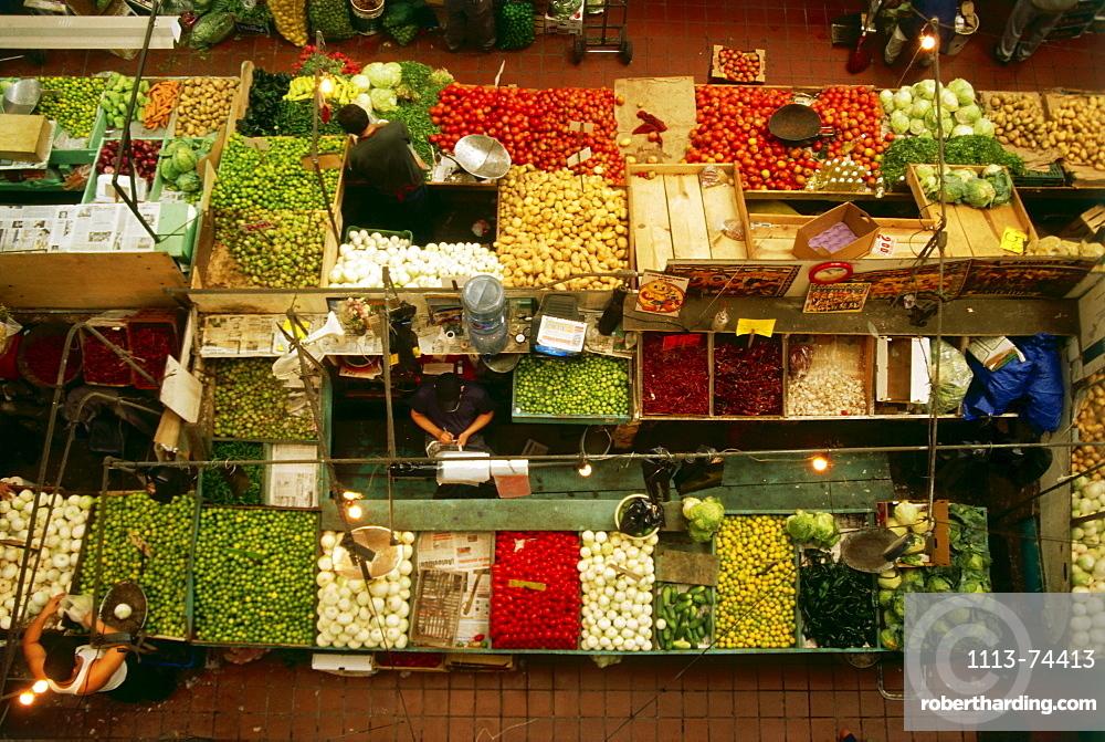 Fruit and vegetable stall at a market, Mercado Liberdad, Gualdajara, Mexico