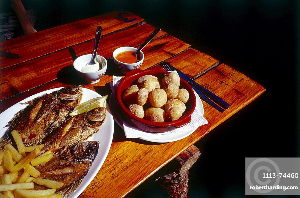 Fish dish, Gran Canaria, Canary Islands, Spain, Europe
