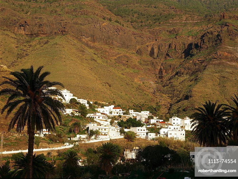 Village El Risco near Agaete, Natural Park Tamadaba, Gran Canaria, Canary Islands, Spain