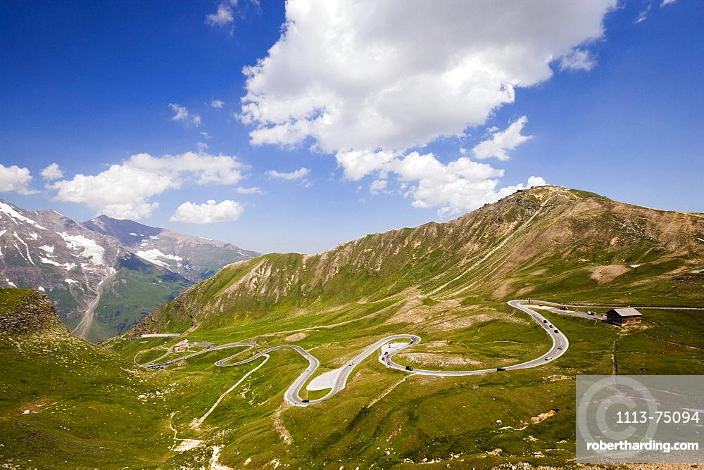View on the Grossglockner-Hochalpenstrasse (Grossglockner Road), mountain pass, Carinthia, Austria