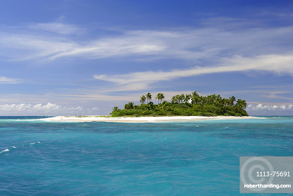 The small uninhabited island of Malinoa is situated one boat hour north of Tongatapu, Tonga, Oceania
