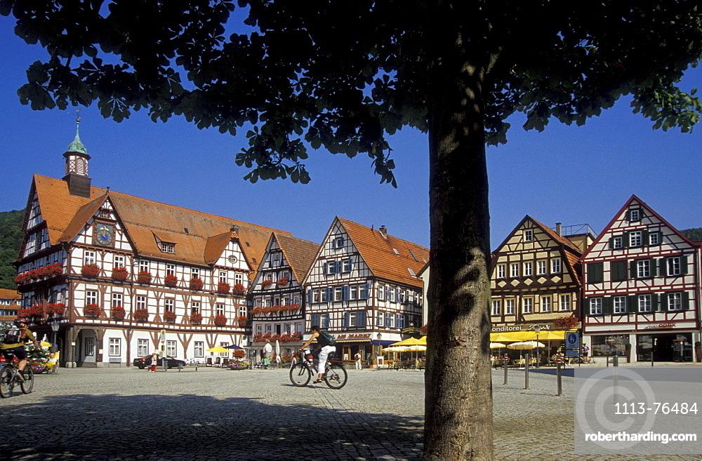 Bad Urach, marketplace, Baden-Wuerttemberg, Germany, Europe