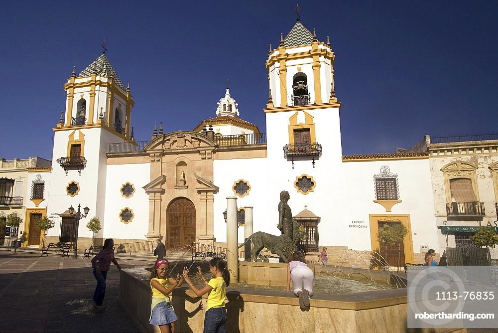 Spain Andalucia Ronda Plaza l Socorro